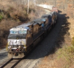 NS 18G is about to pass beneath the Route 625 bridge